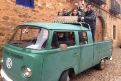 La Gira FeelGood disfrutando en Castrillo de los Polvazares