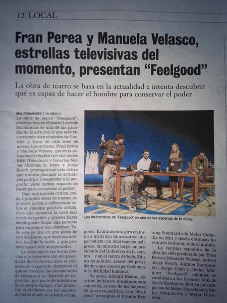 Recorte Prensa de la gira FeelGood